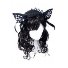 Ушки Dark Sweet Kitty Lolita Headpiece (Checkered)