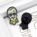 Металлический значок Стэн Ли