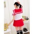 Японская школьная форма Sailor Fuku красная