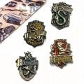 Броши гербы факультетов Хогвартса