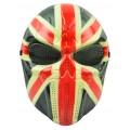 Маска-череп Британский флаг