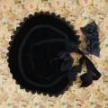 Элегантная черная шляпка