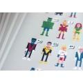Плакат Супергеройский алфавит
