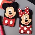 Силиконовый чехол с ушками Микки и Минни на айфон5-5S-6-6+ (iPhone)