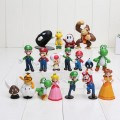 Набор фигурок Супер Марио (super mario) — 18 шт