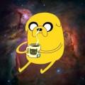 Свитшот Джейк с принтом космос (Время приключений) Adventure time