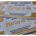 Билет в Хогвартс Хогвартс экспресс на платформу 9 и три четверти (3 четверти) Гарри Поттер