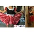 Взрослый костюм Минни Маус в горошек (ушки и платье)
