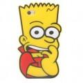 Силиконовый чехол на айфон 4-4S-5-5S-6 Барт Симпсон