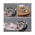 Кольцо Беллы с лунным камнем (серебро)