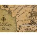 Карта Средиземья Властелин Колец