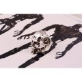 Кольцо T800 Skull (серебро)