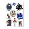 Набор наклеек Doctor Who