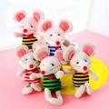 Маленькие мягкие игрушки мышки в полоску